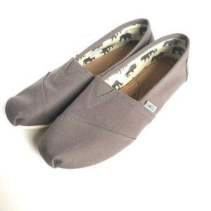 Toms Gray Slip On Shoes Grey Womens 8
